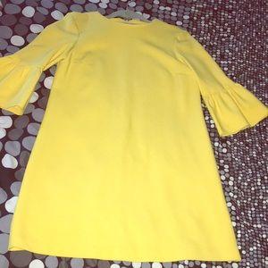 Zara Yellow Bell Quarter Sleeve Dress